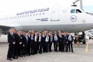 Gruppenfoto LH A320